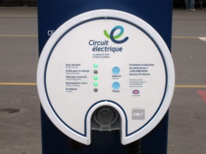 Borne de recharge du Circuit Électrique - RONA Anjou