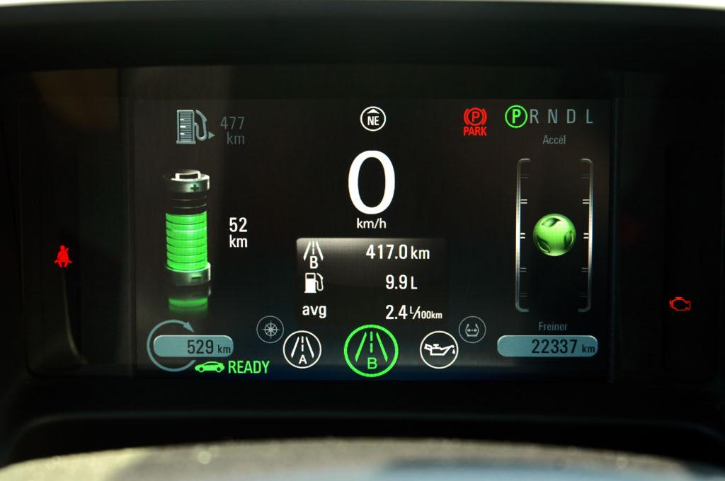 Consommation réelle Chevrolet Volt 2012  - essai routier