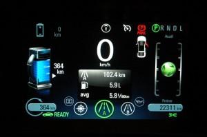 Consommation Chevrolet Volt 2012 mode essence autoroute  - essai routier