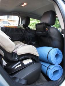 Place arrière Chevrolet Volt camping  - essai routier