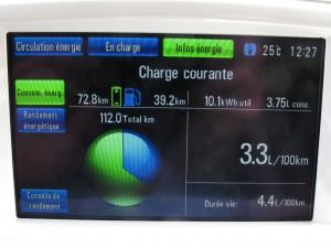 Distance totale mode entièrement électrique Chevrolet Volt 2012  - essai routier