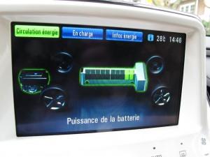 Essai routier - Flux énergie console Chevrolet Volt