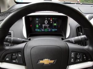 Tableau de bord / volant de la Chevrolet Volt 2012  - essai routier