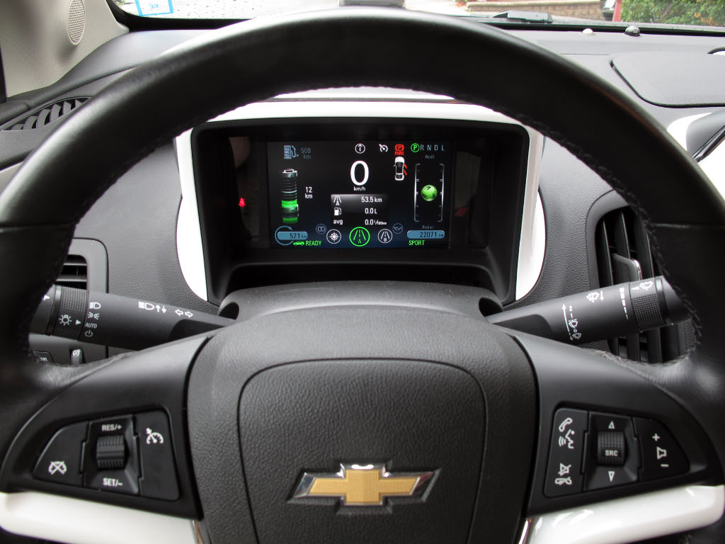 Tableau de bord / volant de la Chevrolet Volt 2012