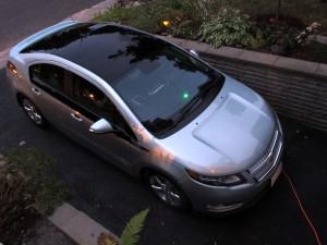 Recharge Chevrolet Volt voyant vert tableau de bord  - essai routier