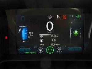 Consommation Chevrolet Volt mode montagne  - essai routier