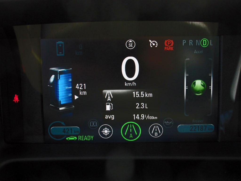 Consommation Chevrolet Volt mode montagne