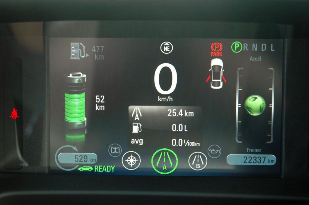 Consommation Chevrolet Volt mode électrique dans la circulation