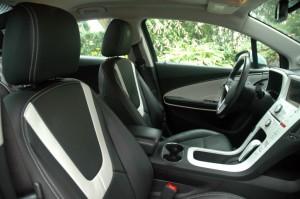 Intérieur Chevrolet Volt siège en cuir  - essai routier