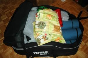 Capacité de chargement d'un sac de toit Thule Quest 846 de 13 pieds cube