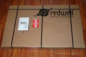 Emballage panneau de chauffage infrarouge Redwell