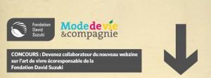 Fondation David Suzuki - Webzine Mode de vie et compagnie