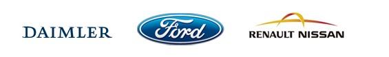 Logo Daimler Ford Nissan - entente pile à combustible hydrogène