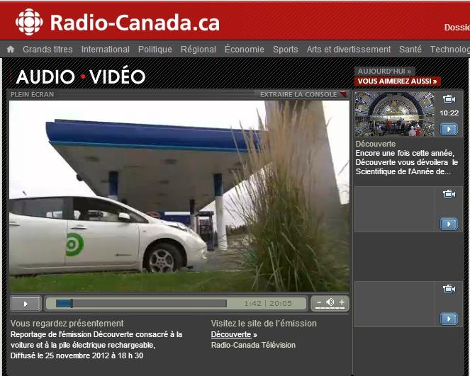 Reportage Découverte Radio-Canada voitures électriques batteries lithium Hydro-Québec