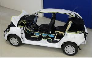 Voiture hybride Peugeot Hybrid Air essence air comprimé