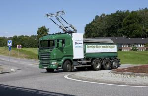 Siemens Scania - camions électriques à pantographe et caténaires