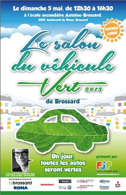 Affiche du Salon du Vehicule Vert de Brossard
