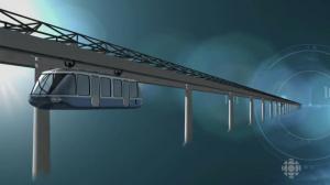 Monorail électrique à moteur-roue Trens Québec