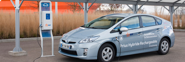 Toyota Prius rechargeable plug-in - projet experimentation Strasbourg