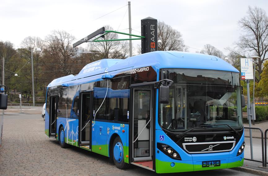 Autobus hybride branchable Volvo Opbrid