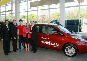 Nissan Canada - don Nissan Leaf à Jeunesse au Soleil
