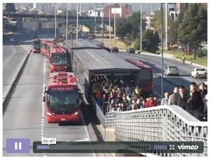Autobus BRT de Bogota en Colombie