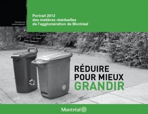 Portrait 2012 des matières résiduelles de l'agglomération de Montréal