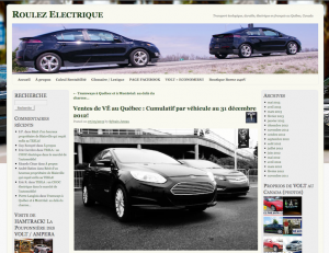 Roulez Électrique - Statistiques  véhicules électriques au 31 décembre en 2012 au Québec