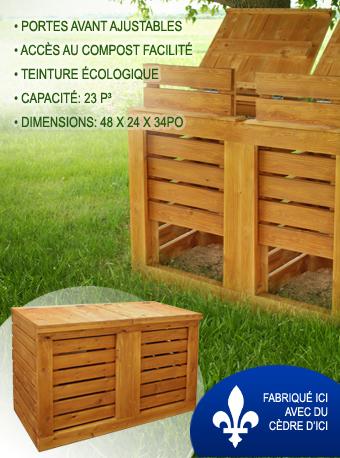 Lombricube - composteur extérieur en cèdre pour vermicompostage ( lombricompostage )