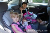 Espace place arrière Prius branchable