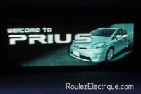 Welcome Plug-In Prius splash screen - écran accueil Toyota Pius branchable