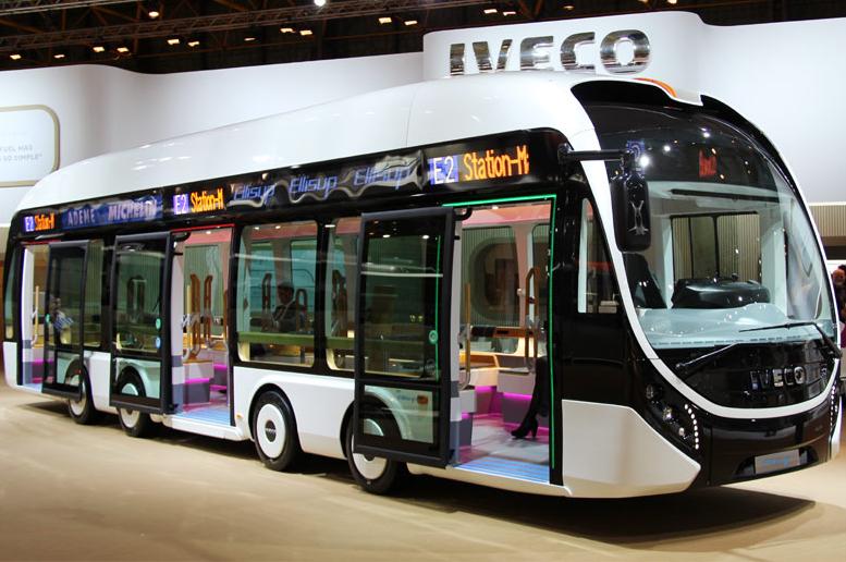 Autobus électriques à moteurs-roues Ellisup