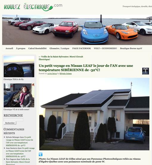 Autonomie de la voiture électrique Nissan Leaf en hiver par grand froid