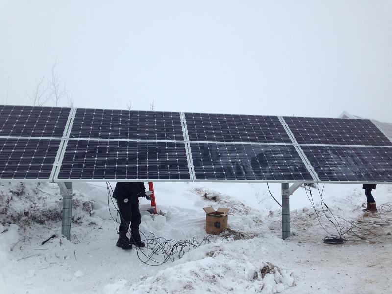 Système solaire de 22kW de la SEPAQ au Parc des Grands Jardins