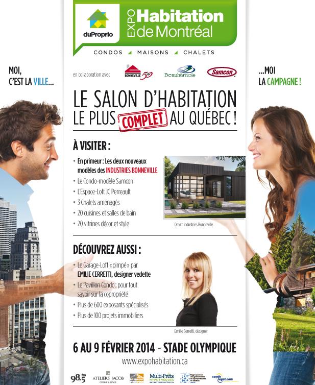 Venez me rencontrer au kiosque d 39 cosolaris lors du salon - Salon de l habitation montreal stade olympique ...
