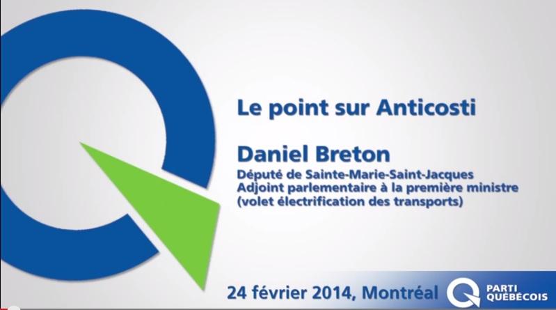 Daniel Breton appuie la décision du gouvernement du Québec d'aller de l'avant avec l'exploration pétrolière sur l'île d'Anticosti.