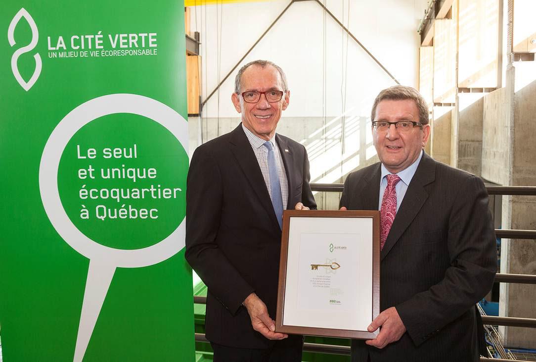 SSQ GROUPE FINANCIER - La Cité Verte livre ses infrastructures