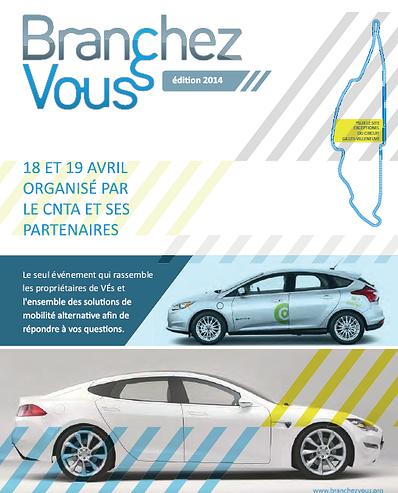 Journée Branchez-vous 2014 - tentative record Guinness voitures électriques