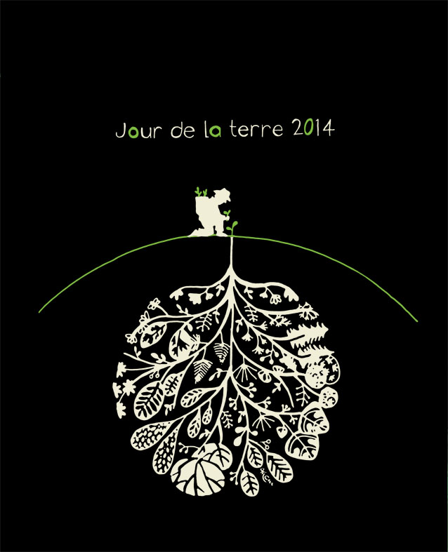 Visuel gagnant concours Réalise le t-shirt du Jour de la Terre 2014