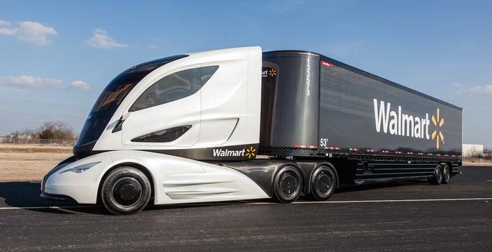 Camion semi-remorque Walmart Wave