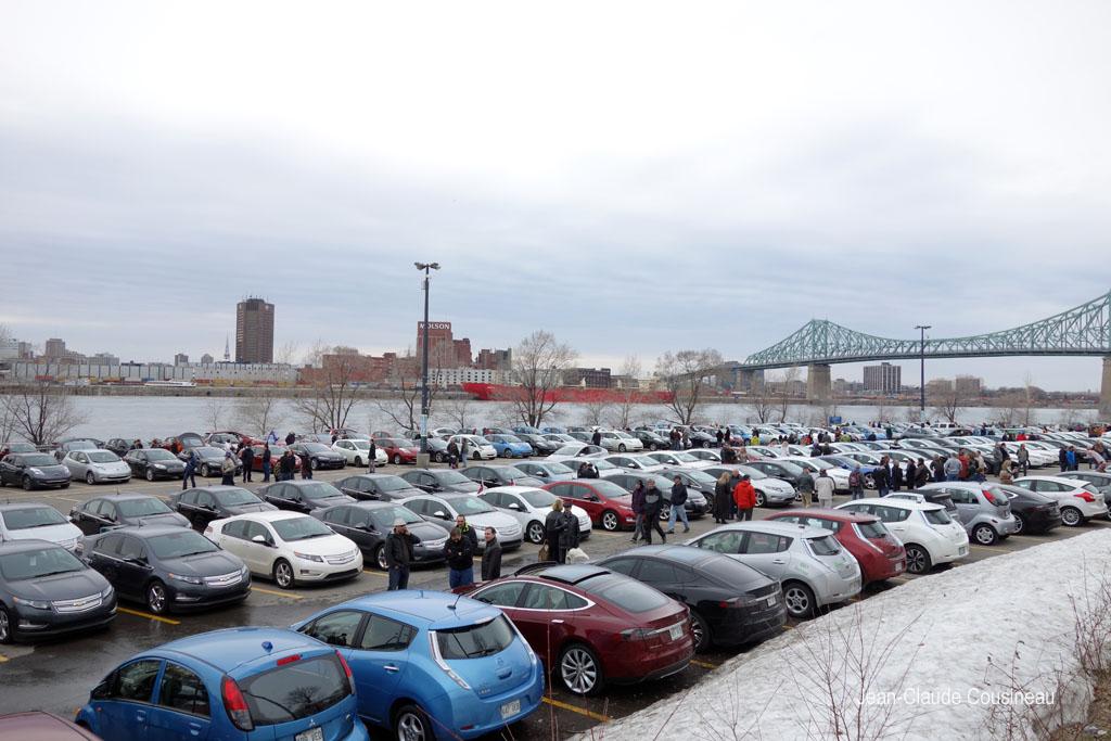 Record Guinness - rassemblement véhicules électriques Montréal CNTA