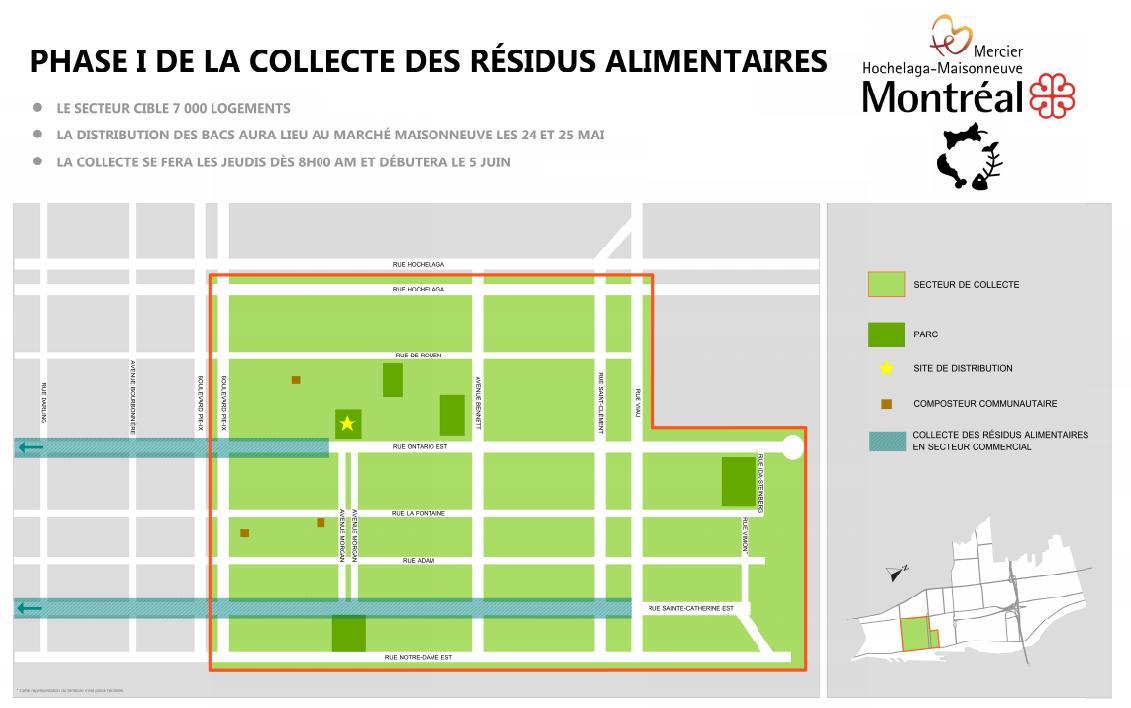 Mercier-Hochelaga-Maisonneuve va de l'avant avec la collecte de résidus alimentaires en milieu résidentiel