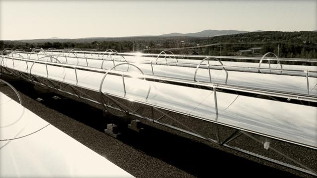 Concentrateur solaire Rackam - projet centrale solaire Cascades à Kingsey Falls