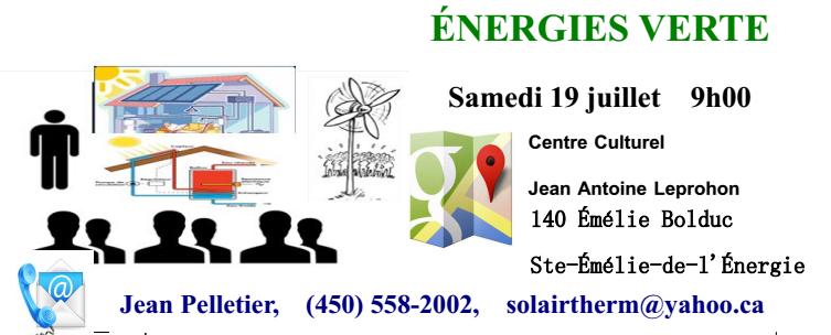 Une journée de formation consacrée aux énergies vertes à Ste-Émilie-de-L'Énergie