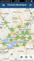 Applications mobiles afin d'identifier les bornes de recharge pour voitures électriques du Circuit Électrique et du RéseauVER