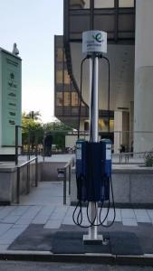 Projet pilote de bornes de recharge sur rue pour véhicules électriques à Montréal
