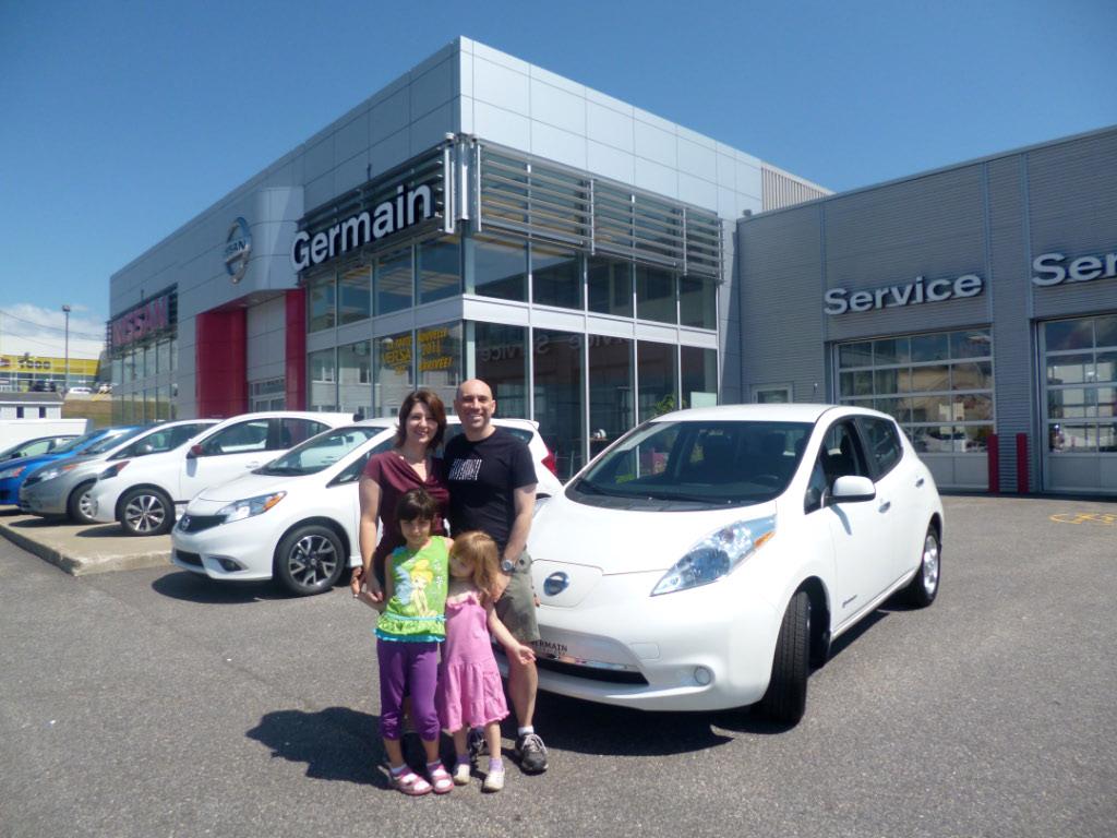 Achat de notre Nissan LEAF chez Germain Nissan de Donnacona