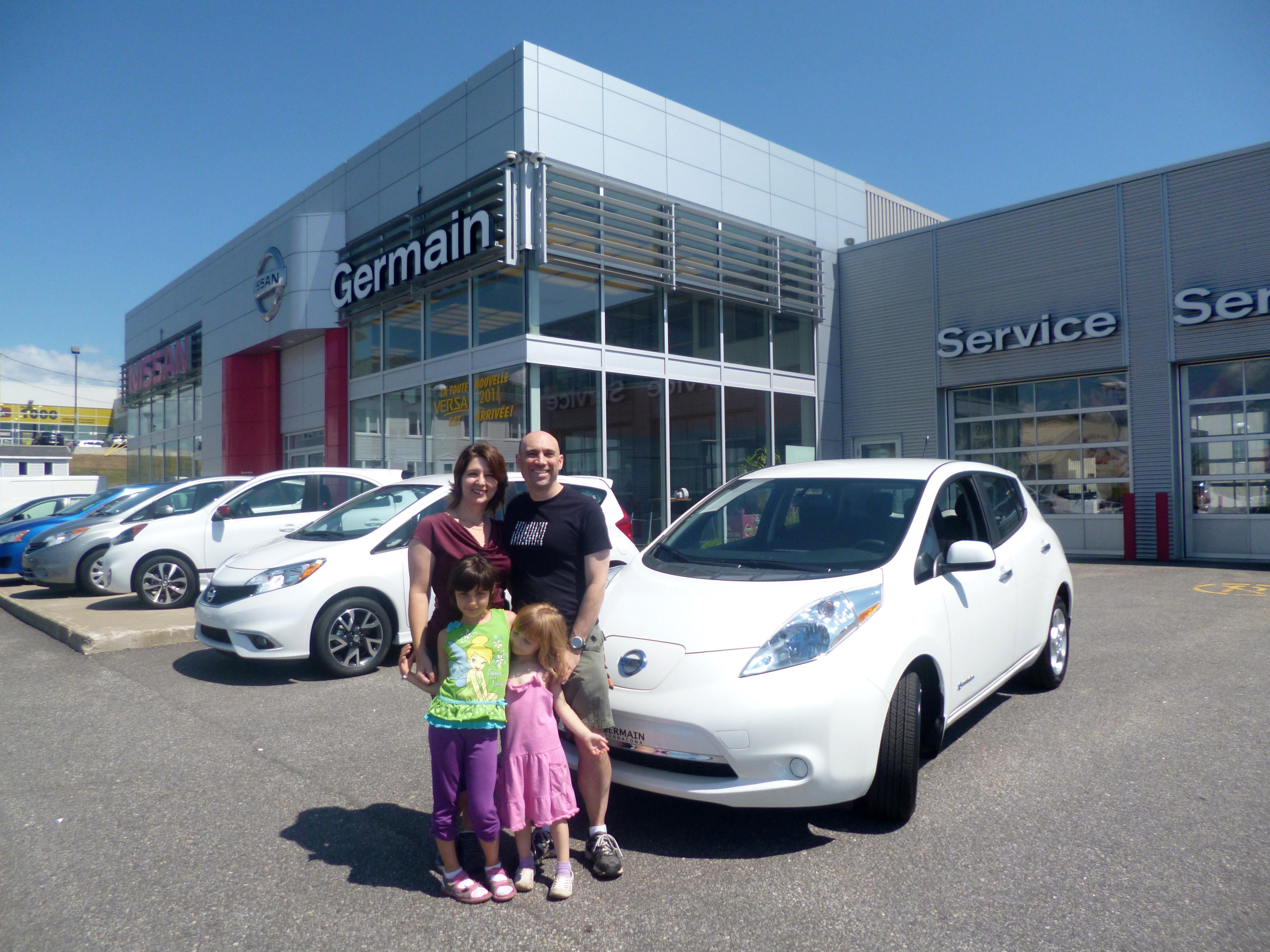 Prise de possession de notre Nissan LEAF 2013 SV chez Germain Nissan à Donnacona