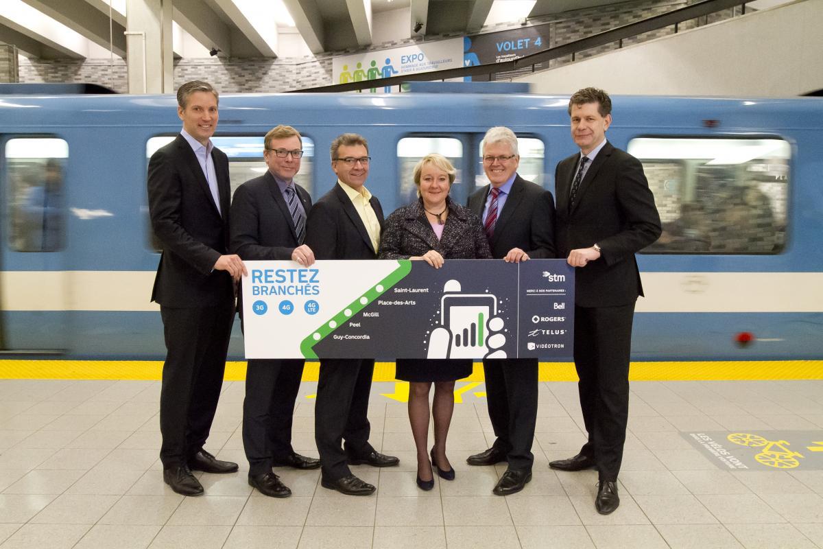 Métro de Montréal -- réseau sans fil cellulaire station Guy-Concordia - St-Laurent