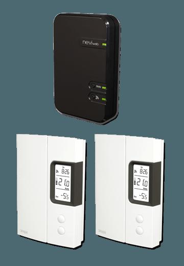 Nouveau thermostat programmable pour chauffage électrique avec interface Web.